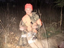 10 Yr old Ryan's first buck. We all should shoot so well